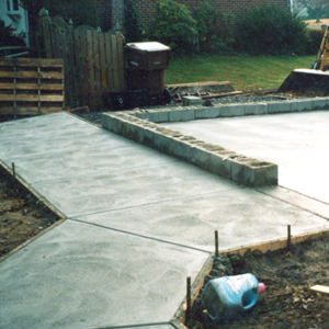 Concrete: Large enough for a storage facility or small enough for a hot tub pad...