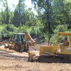 Excavation: We have the machines to get any job done... Backhoe, Bulldozer, Skid Steerer,  Mini Excavator and more!